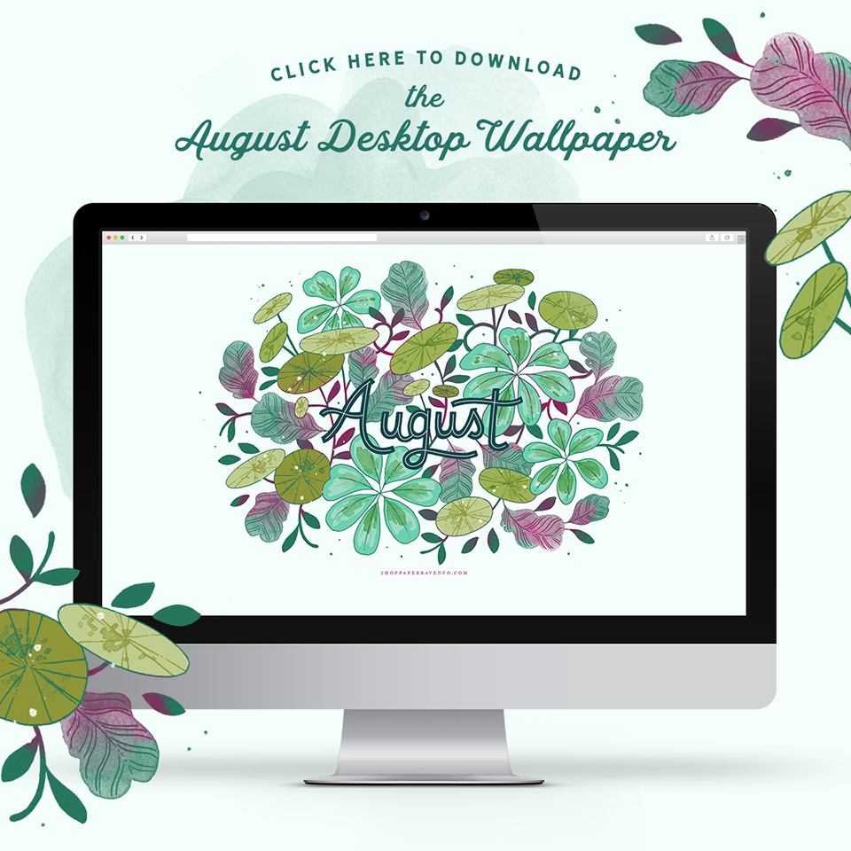 August Illustrated Desktop Wallpaper