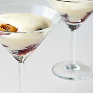 Zabaglione with Roasted Plums