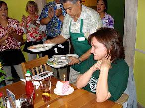 Photo: Ronnie and her guava birthday cake. 10/16/2007