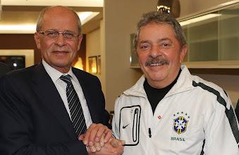 Photo: Berthold Huber, presidente da IG Metall, e Lula. Foto: Ricardo Stuckert/Instituto Lula