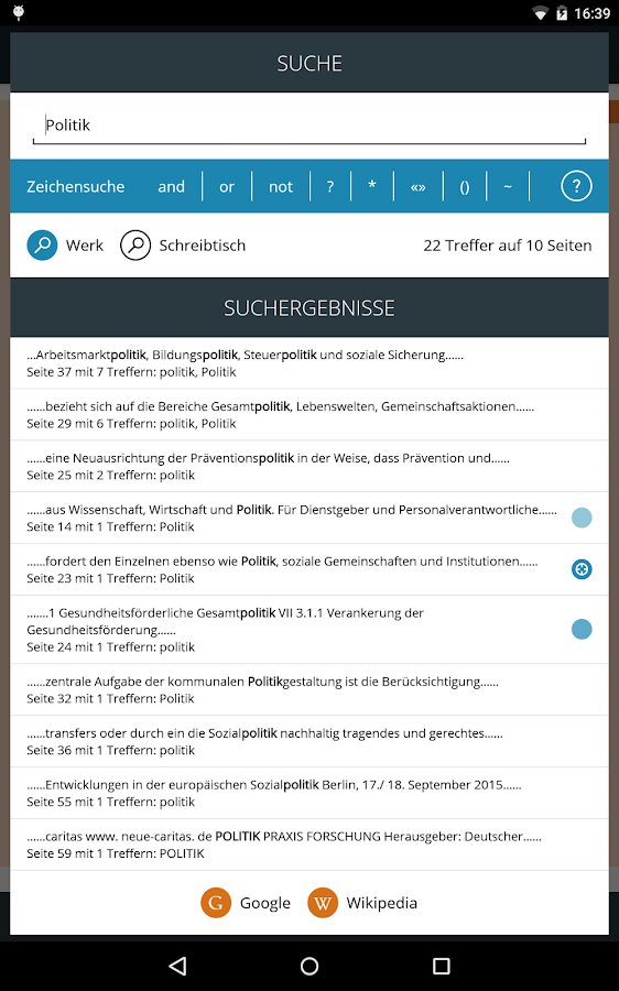 neue caritas – Screenshot