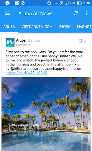 Aruba All News & Radio App Report on Mobile Action - App Store