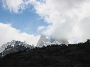 Photo: Cerro Torre hiding