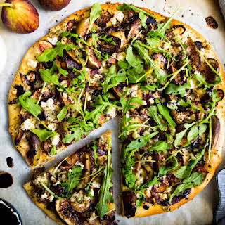 Fig and Caramelized Onion Flatbread with Balsamic Reduction.