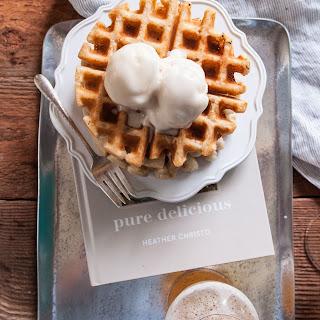 Free Beer Waffle Sundaes (egg free, dairy free, gluten free, nut free)