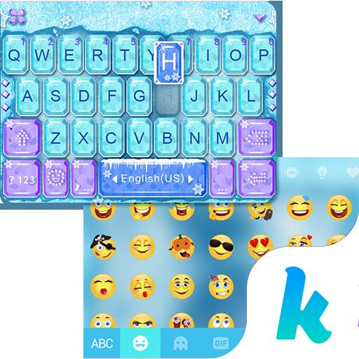 Frozen Kika Keyboard Theme