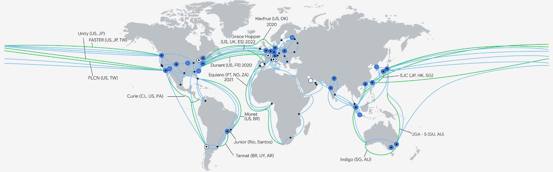Map of Google Cloud Infrastructure