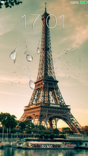 Rainy Paris Lock Screen