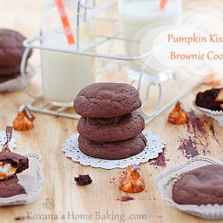 Pumpkin Kissed Brownie Surprise Cookies