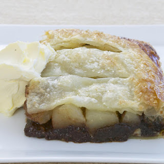 Chocolate and Pear Jalousie (French Tart)