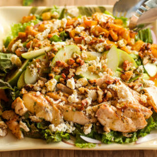 Grilled Chicken Salad With Maple Vinaigrette.