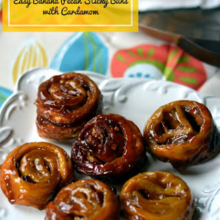 Easy Banana Pecan Sticky Buns with Cardamom