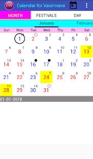 Calendar for Vaishnava - náhled