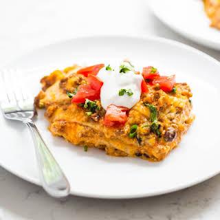Slow Cooker Taco Lasagna.