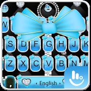 Blue Bow Zipper Keyboard Theme