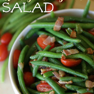 Easy Green Bean And Bacon Salad.