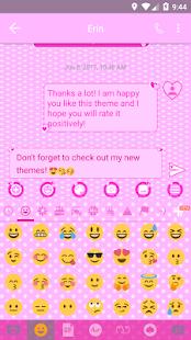 Pink Heart SMS Zprávy - náhled