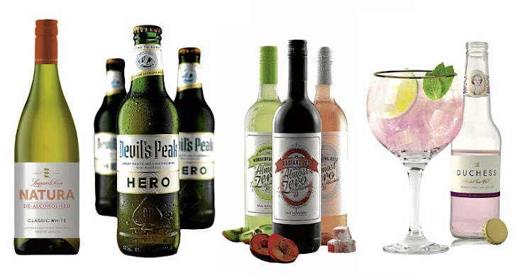 Some of the many alcohol-free booze alternatives you'll find on SA's shelves.