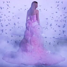 Need An Another Hope... by Ilkgul Caylak - Digital Art Things ( amazing, cool, sky, girl, awesome, woman, beautiful, dramatic, nice, dramatic sky )
