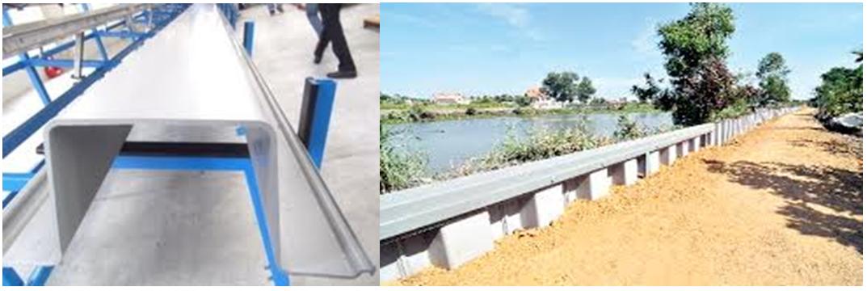 Một số hình ảnh về cọc cừ UPVC hiện đang được sử dụng ở TP Hồ Chí Minh: