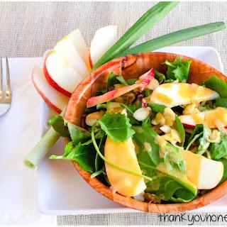 Apple Kale Salad With Peanut Vinaigrette