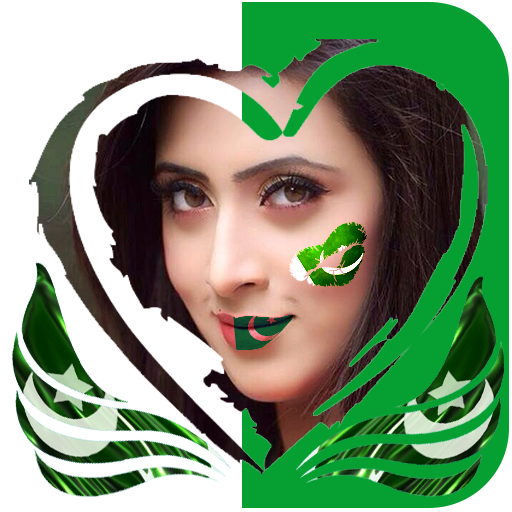 Pak Flag Face Maker,Independance day Face Maker