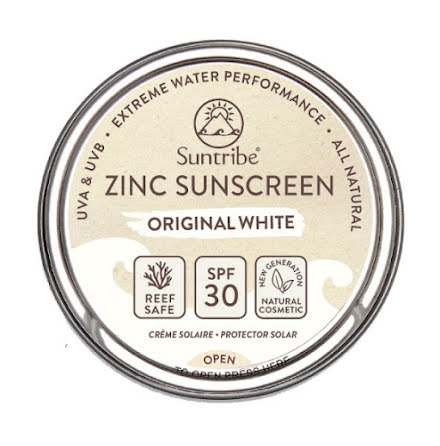 Suntribe All Natural Face & Sport Zinc Sunscreen Original White SPF 30 (45g)