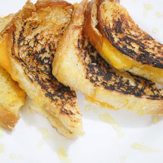 Honey Cheddar Sourdough Grilled Cheese Breakfast Sandwich
