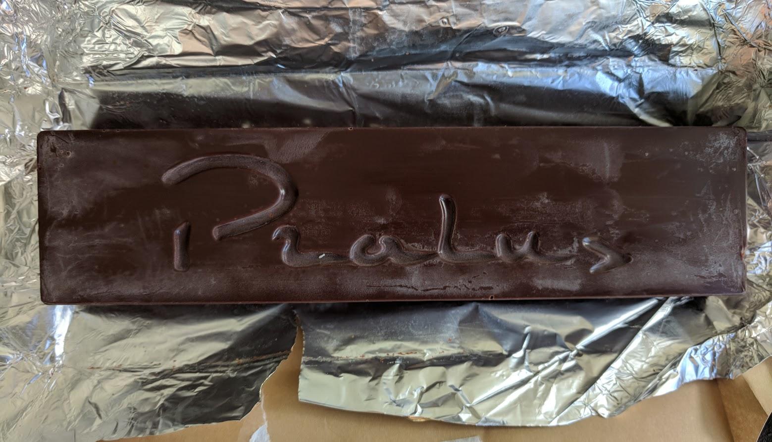 75% pralus pistachio praline bar