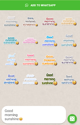Screenshot for Texticker, Create Text Stickers - WAStickerApps in Hong Kong Play Store