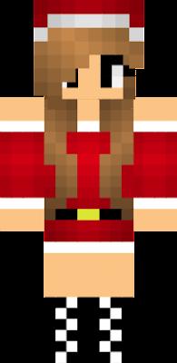 Christmas Minecraft Santa.Santa Girl Nova Skin