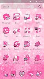 Glitter Emojis Theme - náhled