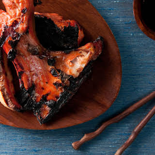 Grilled Salmon Collars with Ponzu Sauce.