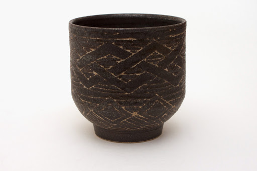 Chris Carter Carved Ceramic Yunomi 2