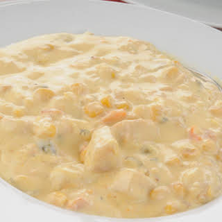Crockpot Chicken Corn Chowder.