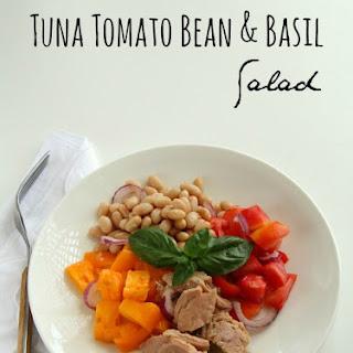 Tuna, Tomato, Bean and Basil Salad