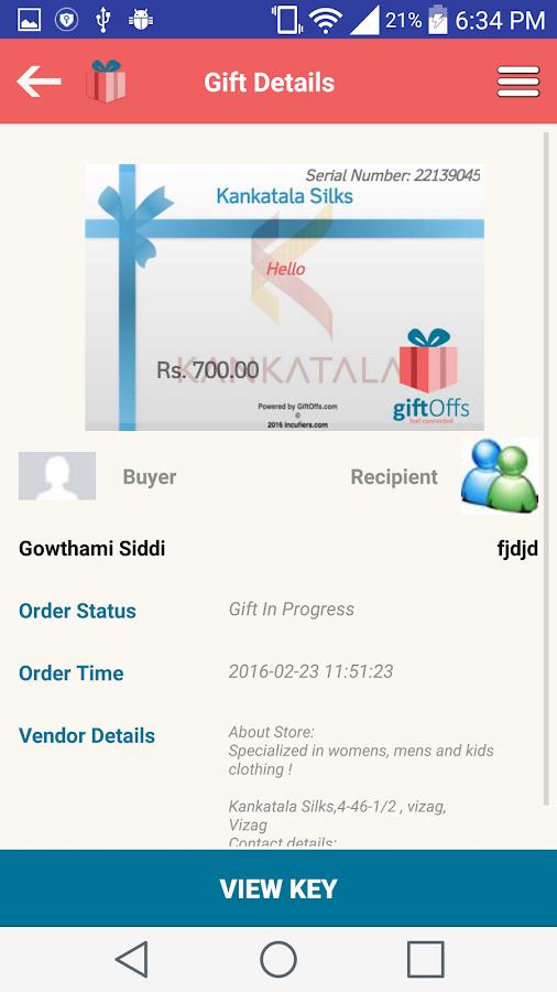 GiftOffs- screenshot