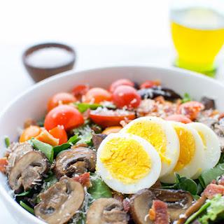 Boiled Egg Bacon And Mushroom Salad