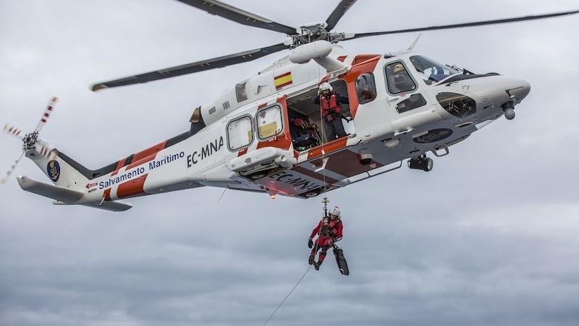 Imagen de archivo del helicóptero de Salvamento Marítimo.