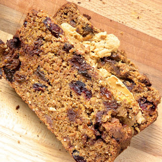 Cranberry Raisin Pumpkin Bread with Chocolate Chips