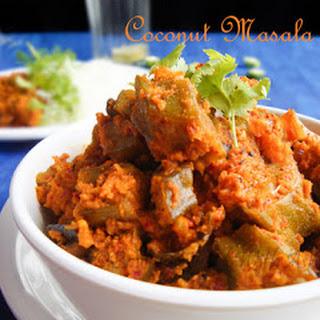 Okra/LadyFinger/Bhindi Sukha Masala with Coconut