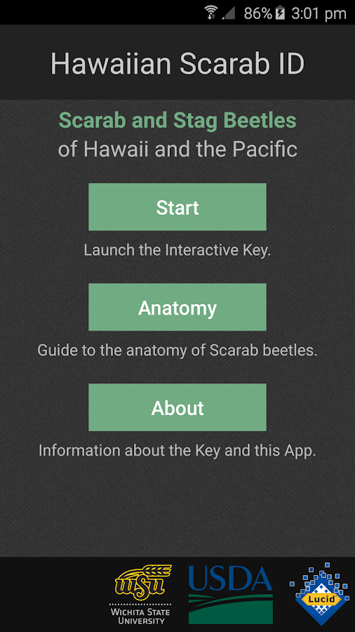 Hawaiian Scarab ID- screenshot