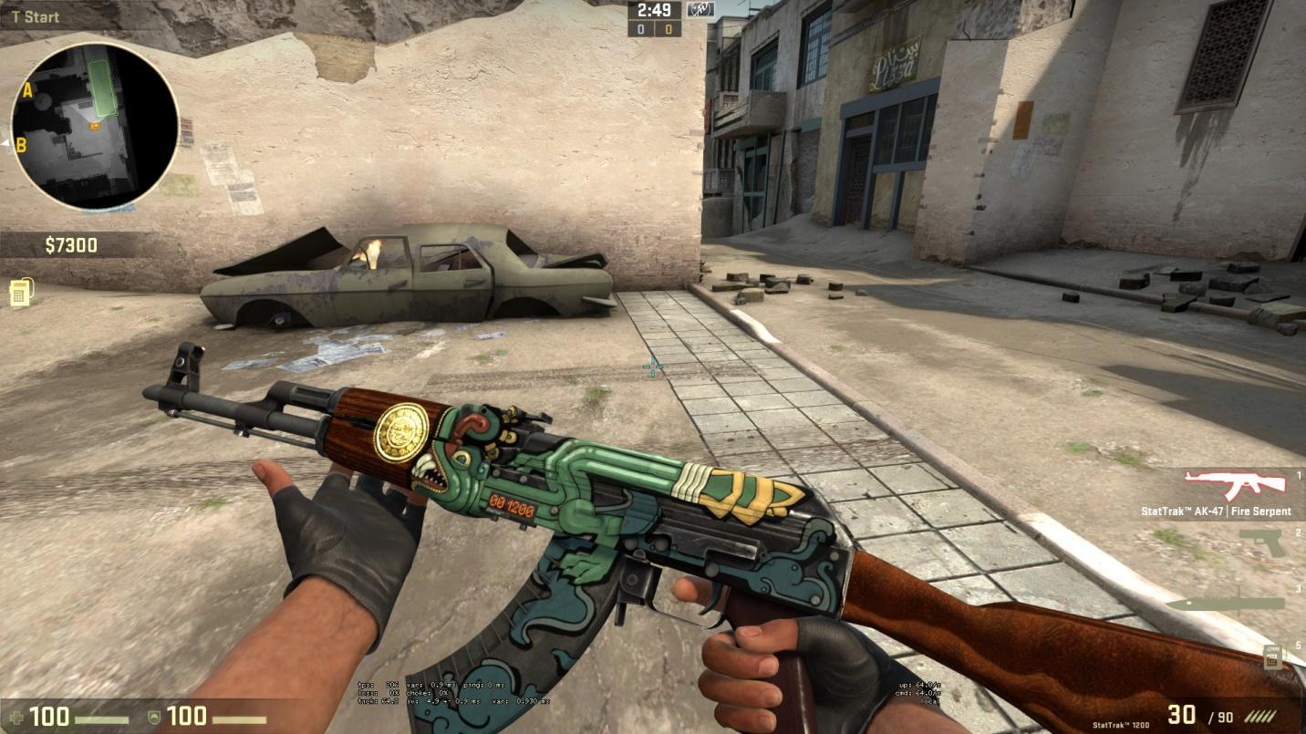 Резултат слика за StatTrak™ AK-47 | Fire Serpent (Minimal Wear)