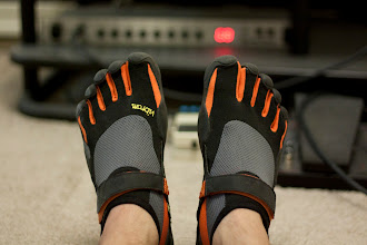 Photo: Day 1 in my vibrams.  Feet are holding up well!
