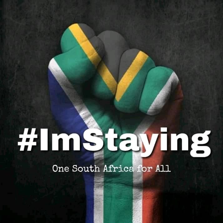 #ImStaying aims to involve all those who choose to grow and improve South Africa.