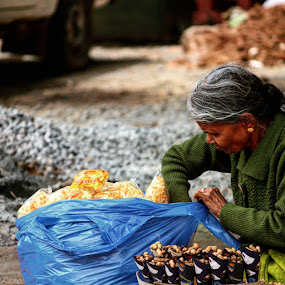 The Quintessential Informal Sector by Nishtha C - People Portraits of Women ( #lady, #informal, #food, #entrepreneue, #oldage )