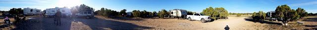 360-degree panorama of camp