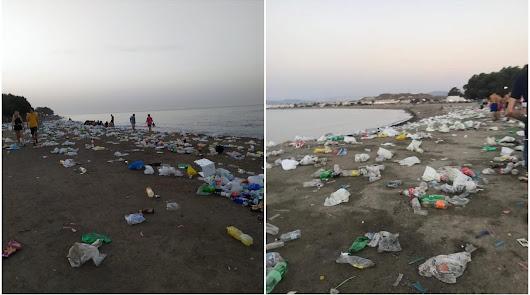 """Piden medidas para que no se """"degrade"""" la playa de Villaricos tras el Dreambeach"""