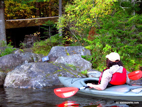 Photo: Kayaking by the shore at Kettle Pond by Matt Parsons