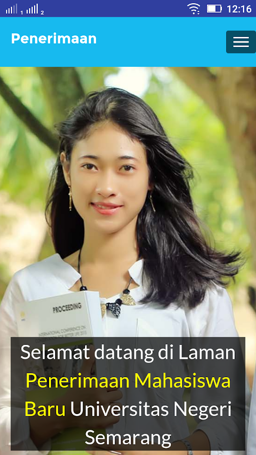 Penerimaan Mahasiswa Baru Universitas Negeri Semarang Download Lengkap